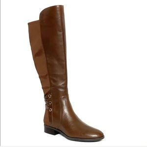 Vince Camuto Brown Wide Calf Over Knee Boots 8.5